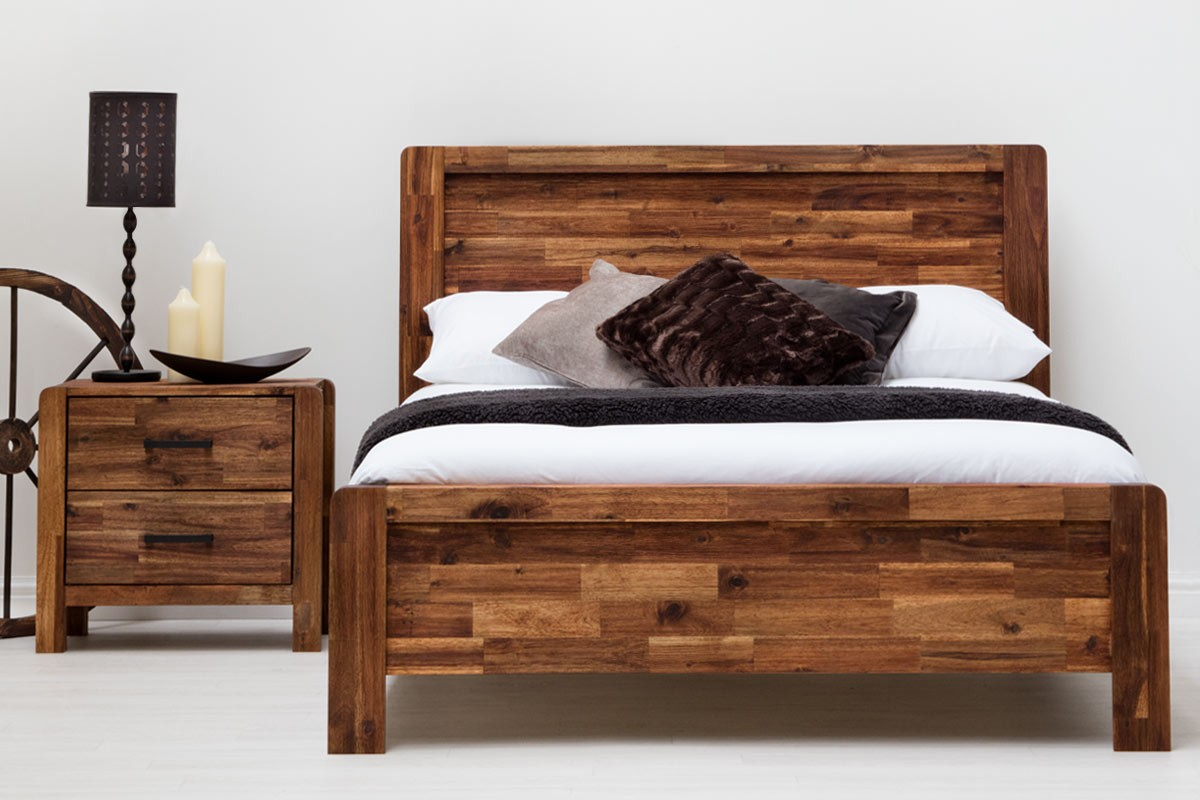 Picture of: Rustic King Storage Bed Frame