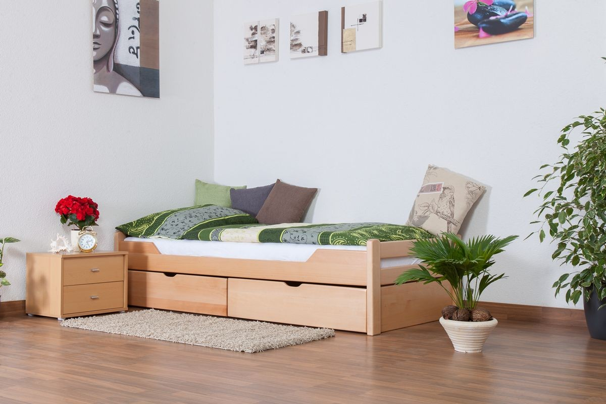 Image of: Single Bed with Storage and Guest Bed