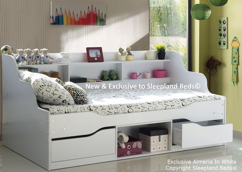 Single Bed with Storage and Trundle