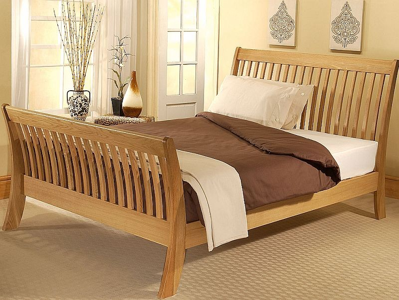 Image of: Sleigh Bed with Storage Size