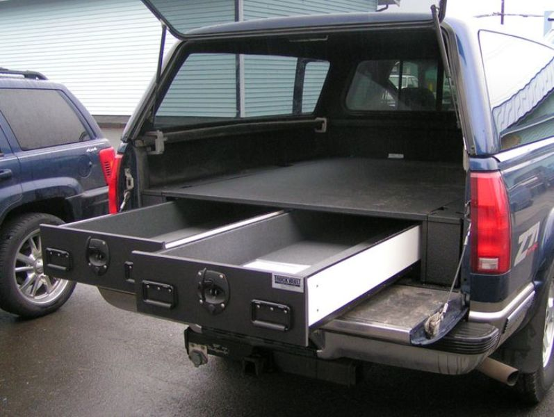 Slide Out Gun Storage For Bed Of Truck