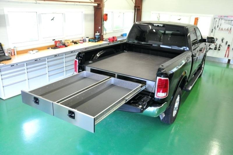 Image of: Slide Out Storage For Truck Bed