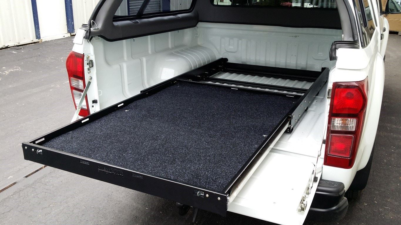 Image of: Slide Out Truck Bed Storage Bins
