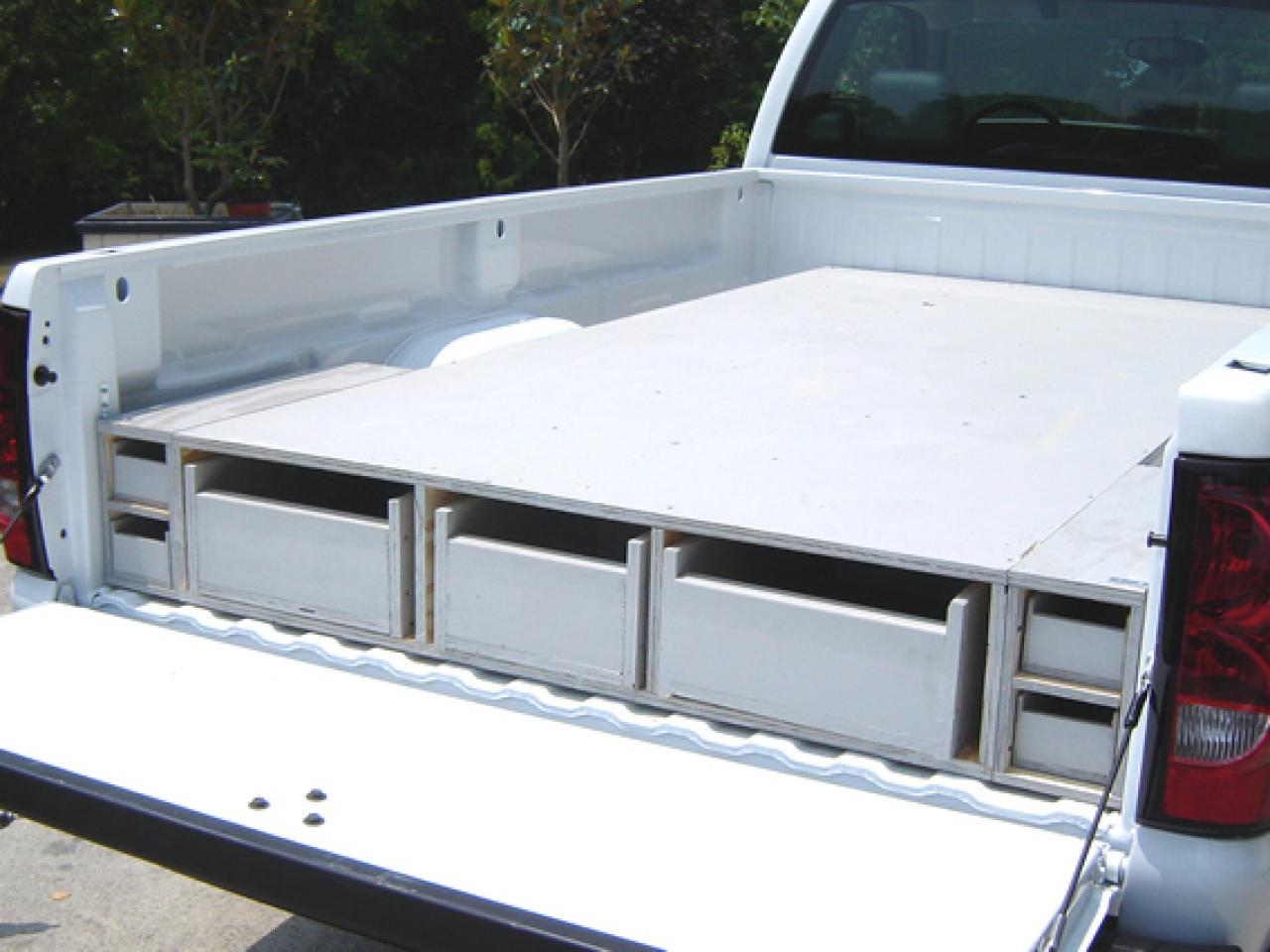 Image of: Slide Out Truck Bed Storage Ideas