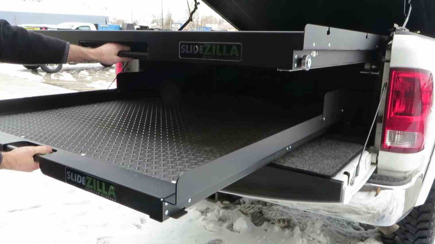 Picture of: Slide-Out-Truck-Bed-Storage-Pockets