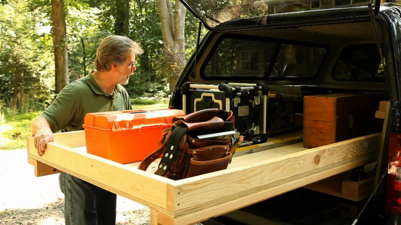 Image of: Slide out Truck Bed Storage System