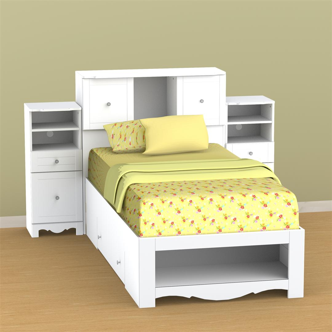 Image of: Small Corner Twin Beds with Storage