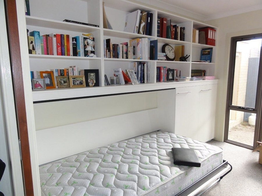 Image of: Small Murphy Bed With Storage