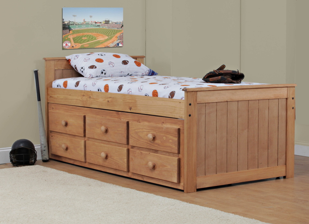 Picture of: Solid Captain Bed With Storage