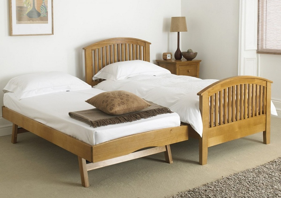 Image of: Solid Wood Twin Bed with Storage Cheap