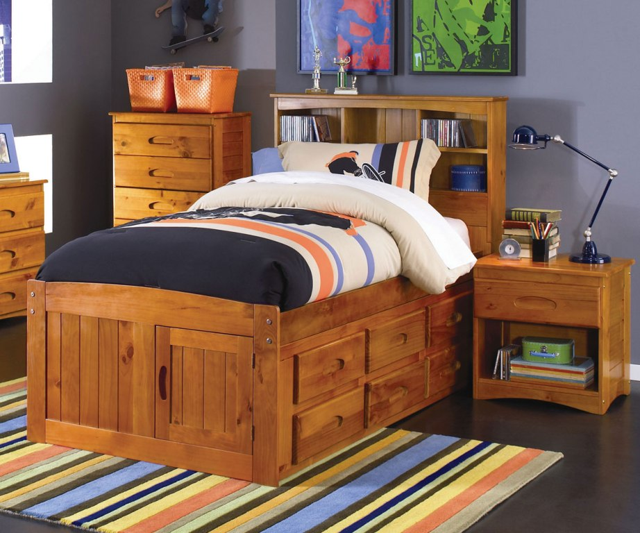 Solid Wood Twin Bed with Storage DIY