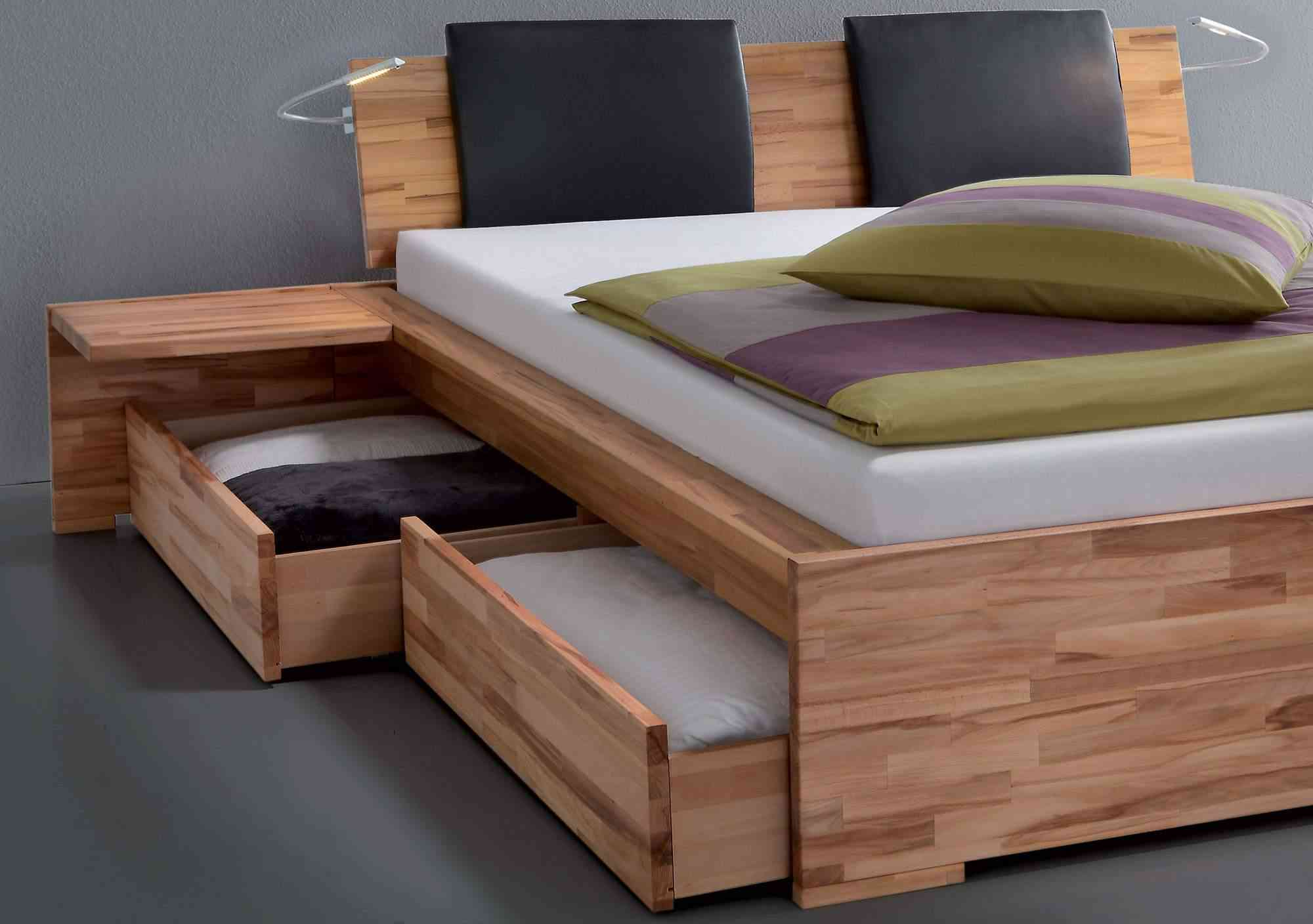 Image of: Solid Wood Twin Bed with Storage Images