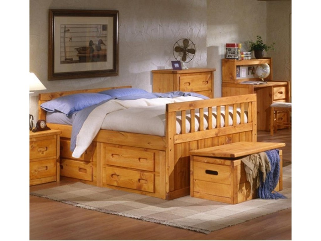 Picture of: Trendwood Twin Captains Bed With Storage