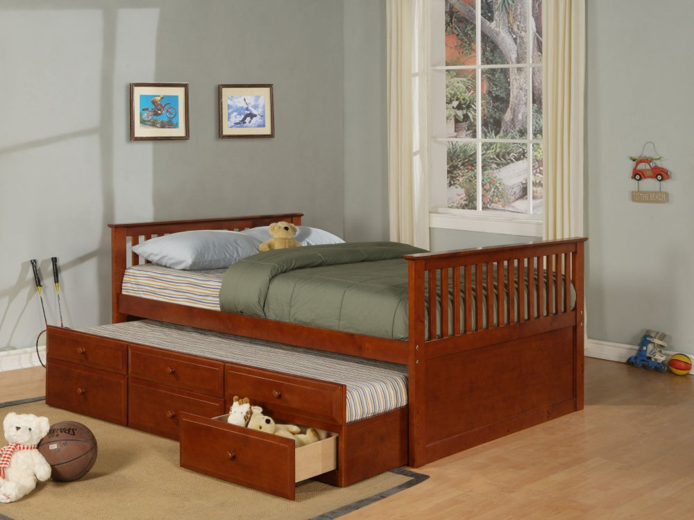 Image of: Trundle Bed With Storage Awesome