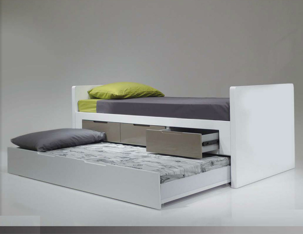Image of: Trundle Bed With Storage Contemporary