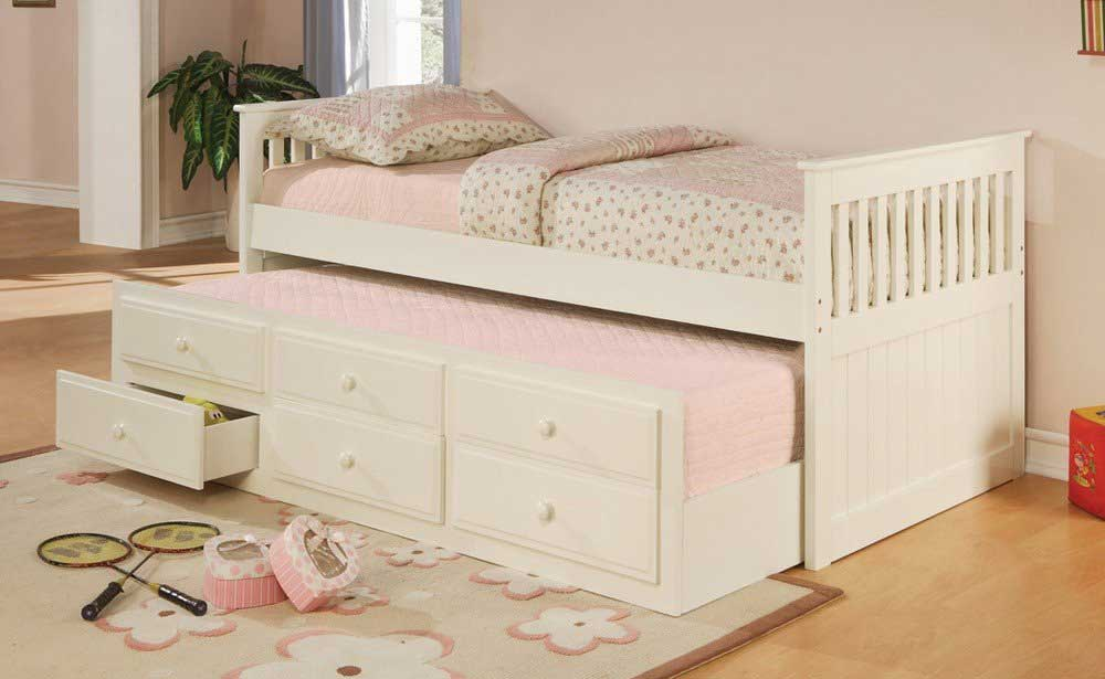 Image of: Trundle Bed With Storage Cute