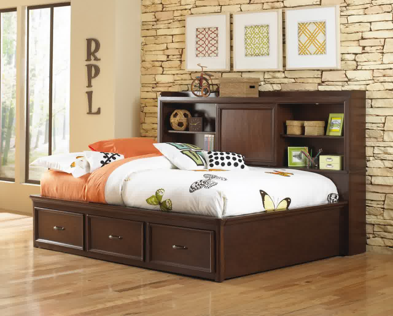 Image of: Trundle Bed With Storage Dark