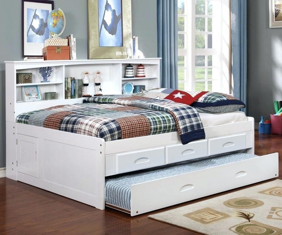 Image of: Trundle Bed With Storage Full Size