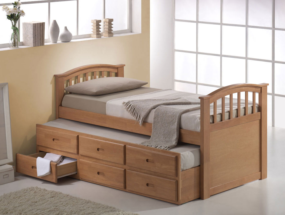Image of: Trundle Bed With Storage Furniture