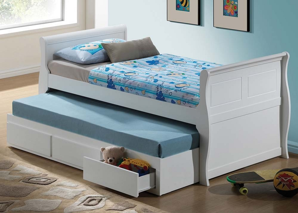 Image of: Trundle Bed With Storage Popular