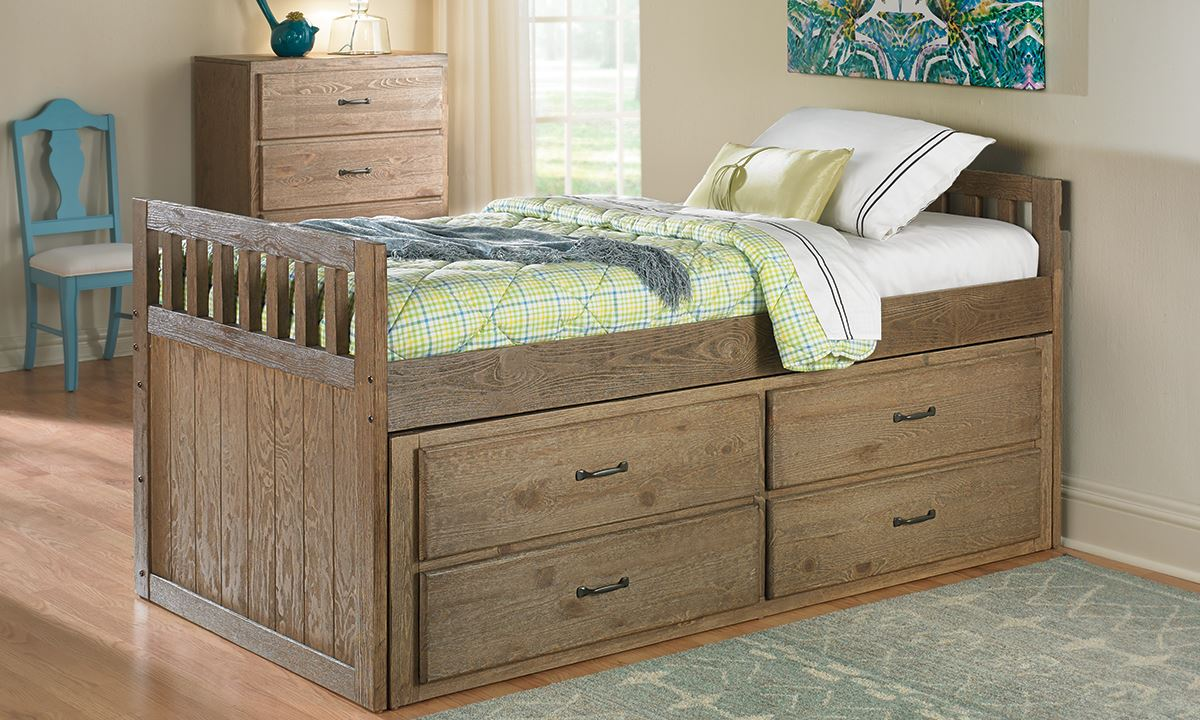 Picture of: Tucson Twin Captains Bed With Storage