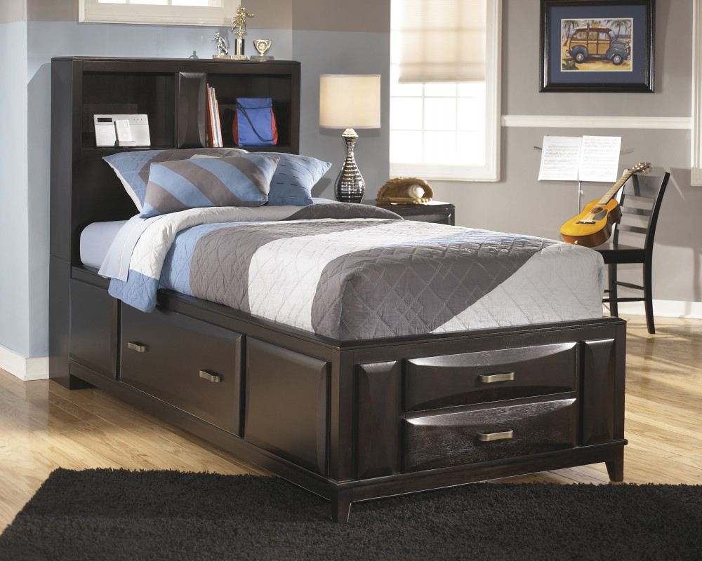 Image of: Twin Ashley Furniture Storage Bed