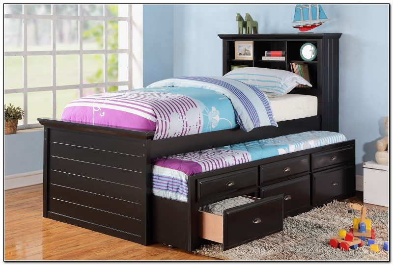Image of: Twin Bed With Storage And Trundle