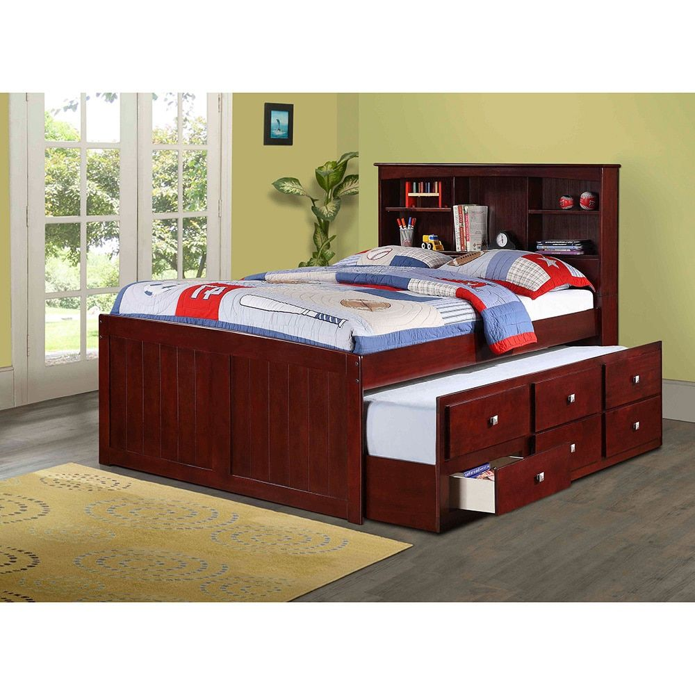 Picture of: Twin Bed With Trundle And Storage Color