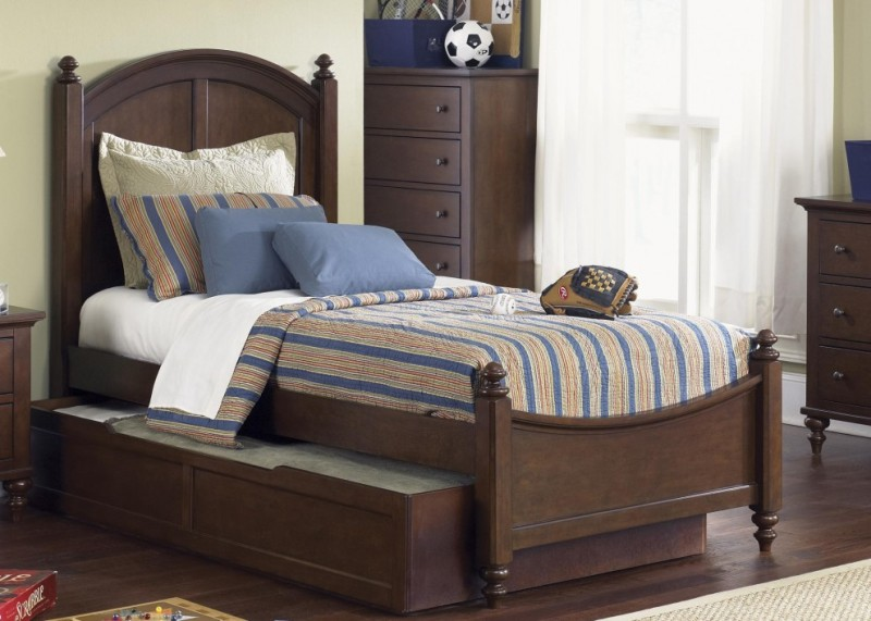 Image of: Twin Bed With Trundle And Storage Drawers