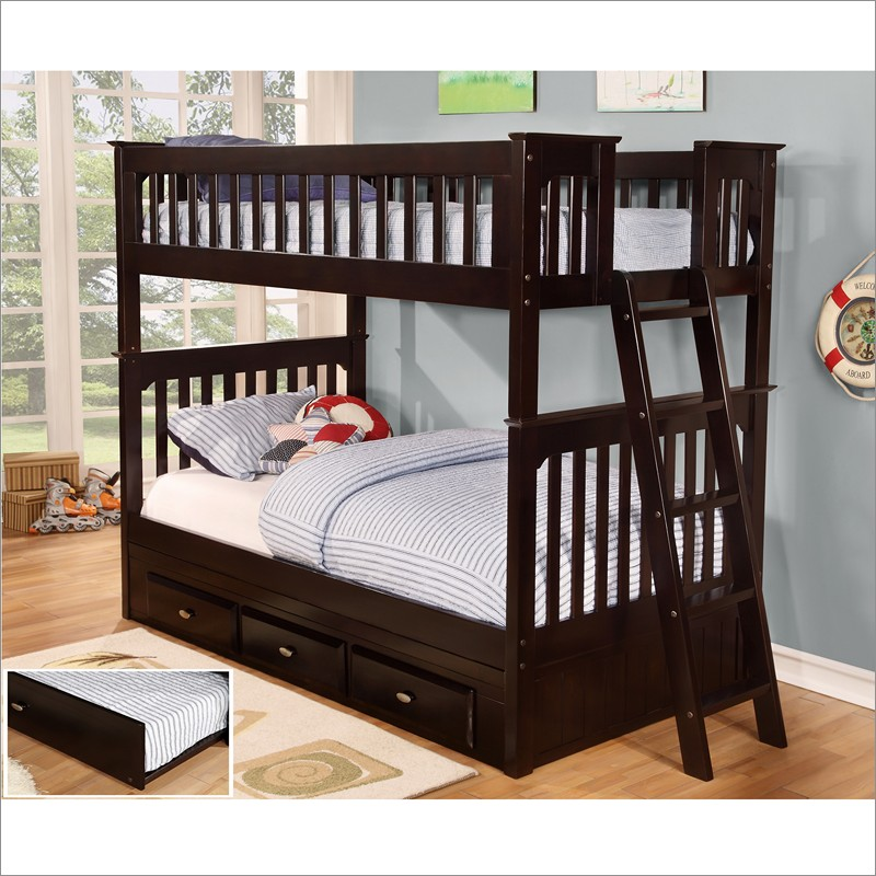 Twin Bunk Beds With Storage Home