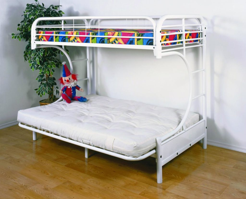 Image of: Twin Bunk Beds With Storage Mattress Included