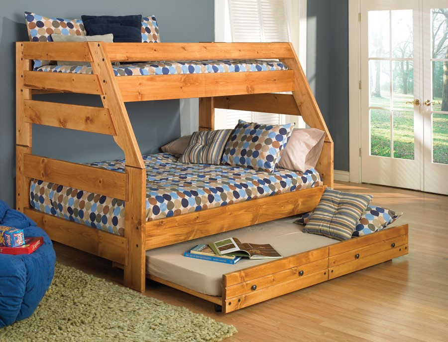 Image of: Twin Bunk Beds With Storage Trundle