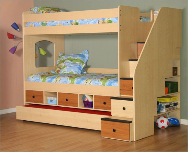 Image of: Twin Bunk Beds With Storage