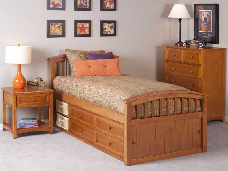 Picture of: Twin Captains Bed With Storage Unique