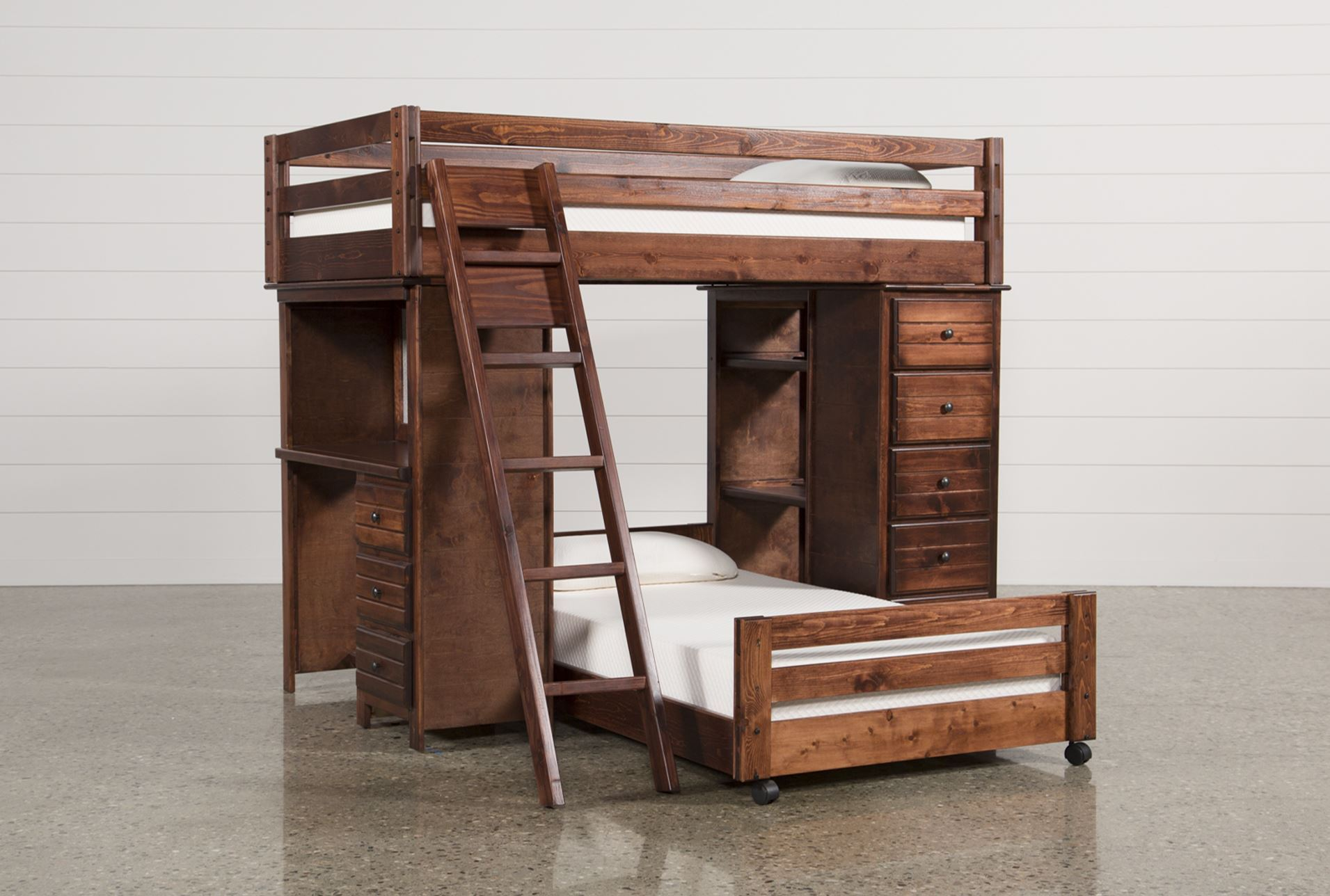 Picture of: Twin Loft Bed With Desk And Storage Best