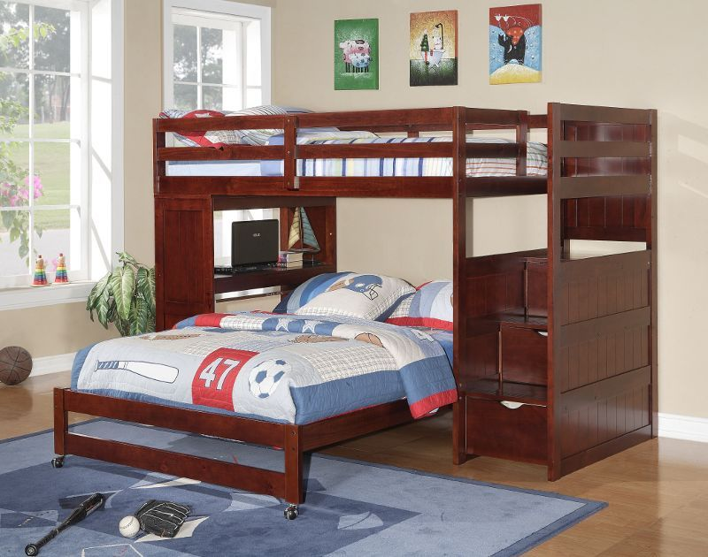 Picture of: Twin Loft Bed With Desk And Storage Boys