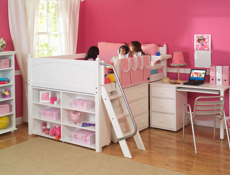 Picture of: Twin Loft Bed With Desk And Storage Cute