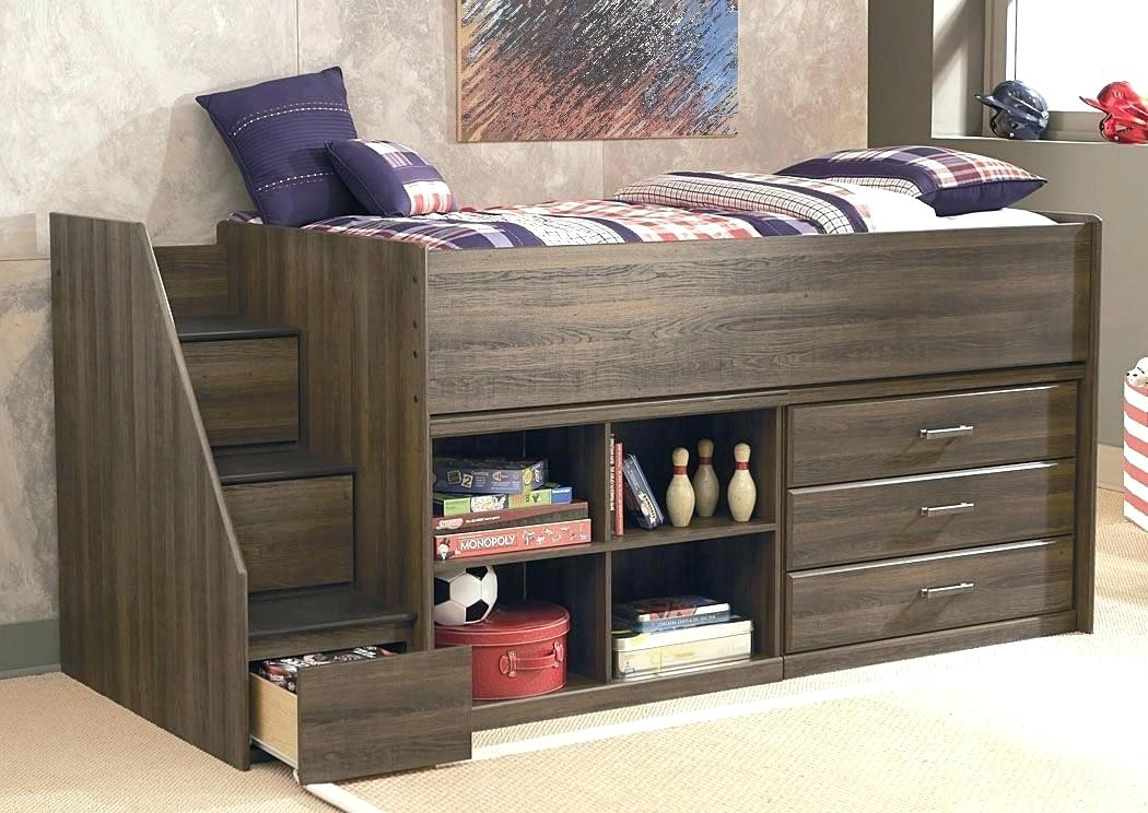 Twin Loft Bed With Desk And Storage Kids