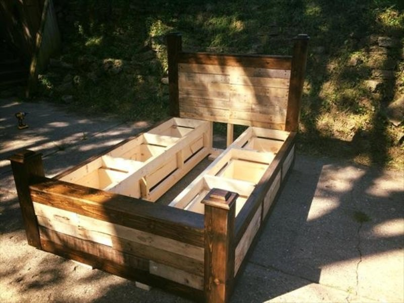 Picture of: Twin Pallet Bed With Storage