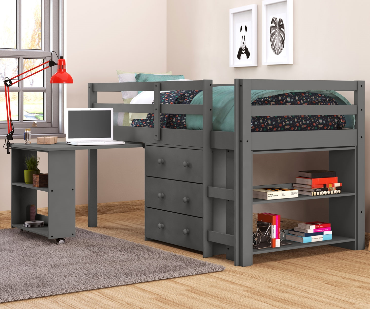 Twin Size Bunk Bed with Storage