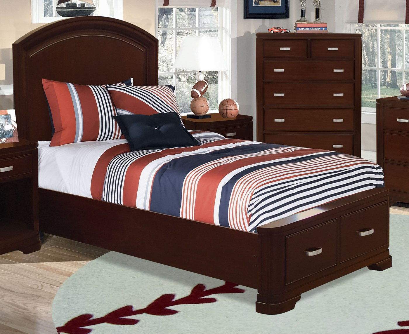 Twin Storage Bed Set