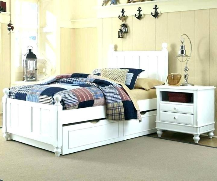 Image of: Twin Trundle Bed With Storage Drawers