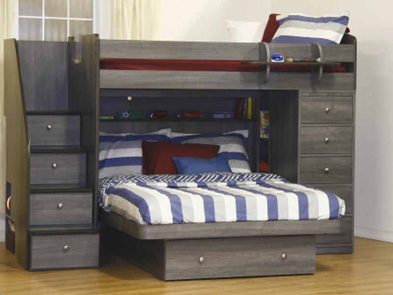 Picture of: Twin over Full Bunk Bed with Storage Drawer
