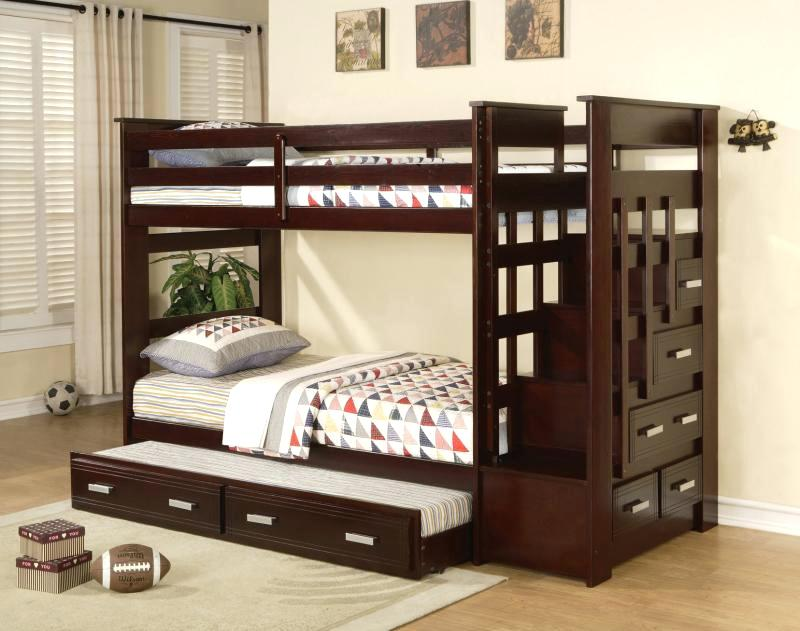 Image of: Twin over Twin Bunk Beds with Storage Design