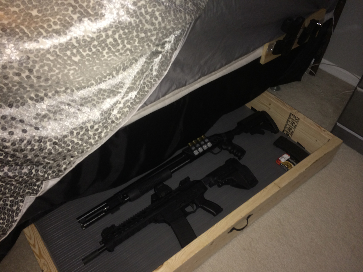 Image of: Under Bed Gun Storage Innovative