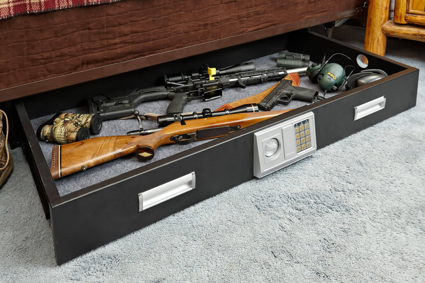 Image of: Under Bed Gun Storage Large