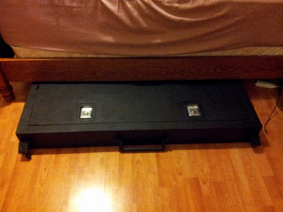Image of: Under Bed Gun Storage Modern
