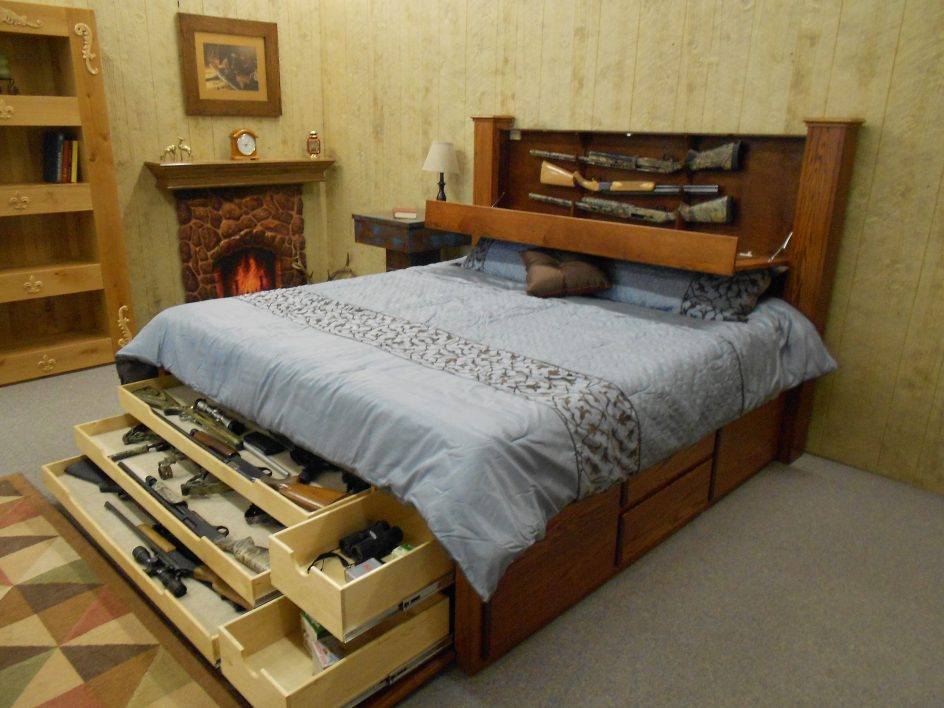 Image of: Under Bed Gun Storage Popular