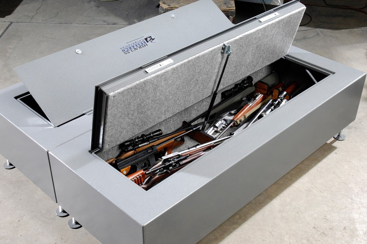 Image of: Under Bed Gun Storage Portable