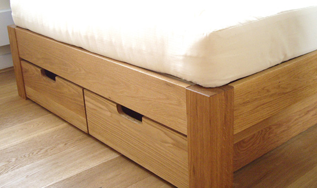 Picture of: Under Bed Storage Drawers Oak